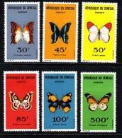 Sénégal N° 226 / 31 XX Papillons Divers La Série Des 6 Valeurs Sans Charnière, TB - Senegal (1960-...)