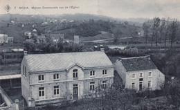 MOHA / MAISON COMMUNALE VUE DE L EGLISE 1909 - Wanze