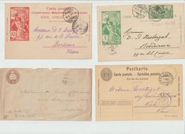 """LOT  """"  ENVELOPPES -  CARTE POSTALE...... -  ENTIERS POSTAUX .... """" De SUISSE - 1900-1892-1898-1875 - Enteros Postales"""