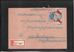 Germany French Zone 1947,registred Cover From Waldsee ( Wurtt)  ( Ref 1236g) - Zona Francesa