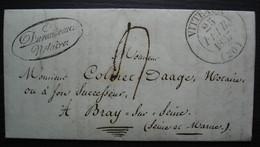 Vitteaux Côte D'or 1837 Cad T13 Sur Lettre De Durandeau Notaire Pour Bray Sur Seine - 1801-1848: Precursors XIX