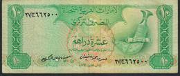 UNITED ARAB EMIRATES P8 10 DIRHAMS 1982  VFNO P.h. - United Arab Emirates