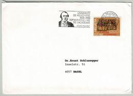 Schweiz / Helvetia 1988, Brief Neuenchâtel - Basel, Louis Agassiz, Naturforscher, Universität/Academie Neuenburg - Nature
