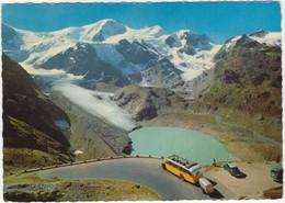 Sustenpass:  ALPENWAGEN FBW POSTAUTO-BUS, DKW 3=6, VW T1-BUS - 2260 M. Gwächtenhorn, Steingletscher - (CH) - Passenger Cars