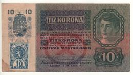 CZECHOSLOVAKIA   10 Korun   P1a     ( Stamp On Austria P19   02.01.1915 (1919 ) - Czechoslovakia