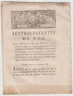 1789, Lettres Patentes Du Roi - Decrees & Laws