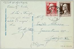 Italien/Italia 1927, Ansichtskarte Trieste - Zürich (CH), Volta, Physiker, Elektrizität/Electricity, Batterie / Battery - Fisica
