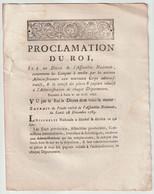 1790, Proclamation Du Roi - Decrees & Laws