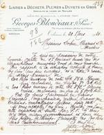 ORLEANS 1921 - GEORGES BLONDIAUX, Succr - Laines & Déchets, Plumes & Duvets En Gros - Zonder Classificatie