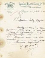 ORLEANS 1922 - GEORGES BLONDIAUX & Cie - Laines & Déchets, Plumes & Duvets En Gros - Zonder Classificatie