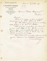 ORLEANS 1921 - O. DESCHAMPS-PESCHEUX - Commision & Représentation - Zonder Classificatie