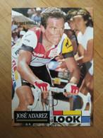 Cyclisme - Carte Publicitaire LOOK ALVAREZ : Bernard HINAULT - Ciclismo