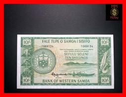 SAMOA - WESTERN SAMOA  10 Shillings 1963 Official Bank Reprint 2020  P. 13  UNC - Samoa