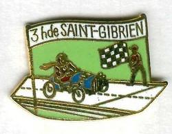 Pin's Voiture Automobile Bugatti Rallye 3 Heures De Saint-Gibrien - Rallye