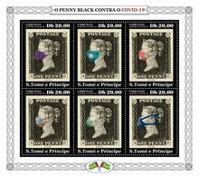 S. TOME & PRINCIPE 2020 - Penny Black COVID-19. Official Issue [ST200417] - Sao Tome And Principe