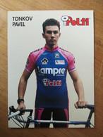 Cyclisme - Carte Publicitaire POLTI 1993  : TONKOV - Cycling