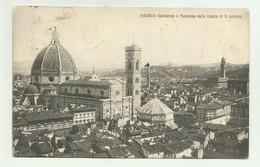 FIRENZE - CATTEDRALE E PANORAMA DALLA CUPOLA DI S.LORENZO VIAGGIATA FP - Firenze