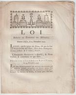 1790, Loi Relative Au Traitement Des Militaires - Decrees & Laws