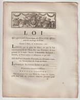 1790, Loi Qui Règle Le Mode D'avancement Des élèves Et Des Officiers Attachés Au Corps Du Génie - Decrees & Laws