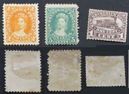 New Brunswick 1860 Yvert 4 5 6 Neufs* - Neufs