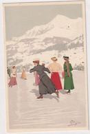 Auf Dem Eisfeld - Sign. Pellegrini - Ed.Vouga, Genève N.119        (P-308-01008) - Otros Ilustradores