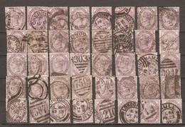 Grande-Bretagne 1881 - Victoria 1p - YT 73 - Petit Lot De 40 Timbres° Pour étude - Kilowaar (max. 999 Zegels)