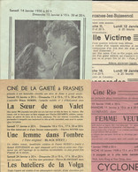 Cinema - Anvaing - Quatre Programmes De Cinéma Différents De Frasnes-lez-Buissenal Et Anvaing 1948-49 - Programmes