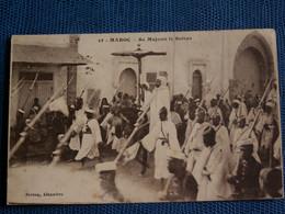 CPA   MAROC  //  SA  MAJESTE  LE  SULTAN  1925  (  Avec Cachet Militaire Au Dos ) - Altri