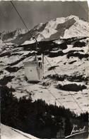 MEGEVE Alt 1000m Le Télé Cabine De Jaillet Et Le Mont Blanc RV - Megève