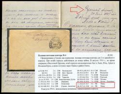 0546 WWI ROMANIAN Front Russia FIELD PO#4 Neamț ROMANIA Cancel 1917 Cover Letter From Active ARMY To Rybinsk - Cartas De La Primera Guerra Mundial