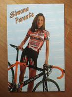 Cyclisme - Carte Publicitaire EDILSAVINO 2002  :  Simona PARENTE - Cycling