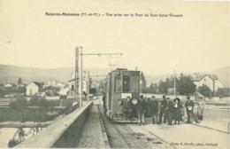 54 // Neuves Maisons - Meurthe Et Moselle - Vue Prise Sur Le Pont Saint Vincent (rare) - Neuves Maisons