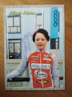 Cyclisme - Carte Publicitaire ACCA DUE LORENA  2001 :  Diana ZILIUTE Signé - Cycling