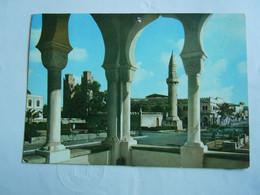 C.P.A. \P.C \KP. SOMALIA SOMALIE - - EX COLONIE ITALIANA -  MOGADISCIO CENTRO VISTO DALLA SEDE MUNICIPALE - Libië
