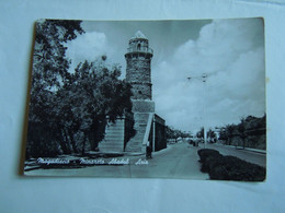 C.P.A. \P.C \KP. SOMALIA SOMALIE - - EX COLONIE ITALIANA -  MOGADISCIO MINARETTO ABADUR AZIZ RARA - Libië