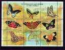 ERITREA   291 MINT NEVER HINGED MINI SHEET OF BUTTERFLIES-INSECTS   # M-251-3  ( - Papillons