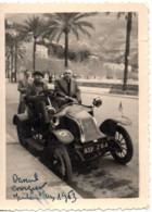 Menton 1953 Photo 6x9cm Devant  Garage Automobile De 1909 Renault 41 Quai Bonaparte Moto-velo Auto - Coches