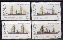 MALTA 1985 MALTESE SAILING SHIPS NAVI A VELA MALTESI COMPLETE SET SERIE COMPLETA MNH - Malta