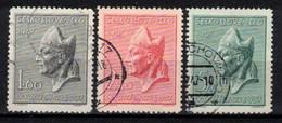 Tchécoslovaquie 1947 Mi 515-7 (Yv 443-5), Obliteré - Used Stamps