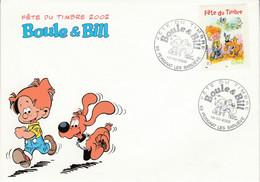 FDC 2002 FETE DU TIMBRE BD BOULE ET BILL - PERIGNAT LES SARLIEVE PUY DE DOME - 2000-2009