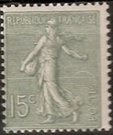 France Maury 130 III (Yvert ) ** Semeuse Lignée 15c Type 3 - Curiosities: 1900-20 Mint/hinged