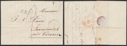 """Précurseur - L. Datée De Eupen (1847) + Cachet Dateur Et Griffe """"P.R.1er R"""" (Prusse 1er Rayon) Port """"2"""" > Francomont - 1830-1849 (Unabhängiges Belgien)"""