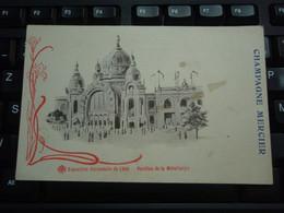Cpa Champagne Mercier Exposition Universelle De 1900 - Pavillon De La Métallurgie - Pubblicitari