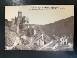 Les Gorges De L'Allier. Jonchères. Les Ruines De L'ancien Château Féodal Et La Gare - Altri Comuni