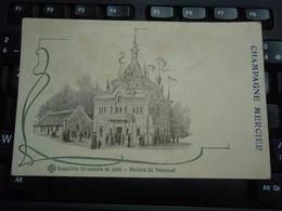 Cpa Champagne Mercier Exposition Universelle De 1900 - Pavillon Du Transvaal - Pubblicitari