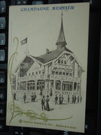 Cpa Champagne Mercier Exposition Universelle De 1900 - Pavillon De La Suisse - Pubblicitari