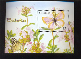 MINT N.H ST.KITTS ; SCOTT # 651 Flower, Butterflies - St.Kitts-et-Nevis ( 1983-...)
