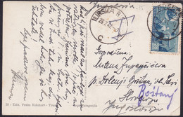 Slovenia, 1947, Incoming Mail, Picture Postcard From Duress (Albania) Via Ilirska Bistrica To Boštanj - Slowenien