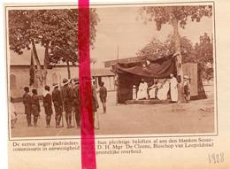 Orig. Knipsel Coupure Tijdschrift Magazine - Congo Leopoldstad - 1° Boy Scouts, Padvinders - 1928 - Zonder Classificatie