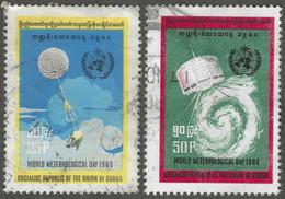 Burma. 1979 World Meteorological Day. Used Complete Set. SG 286-287 - Myanmar (Birma 1948-...)
